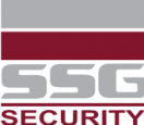 SSG Security red and grey logo